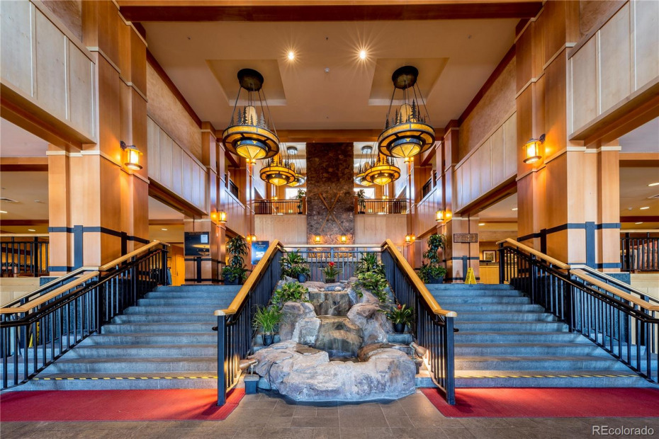 The entrance into the main lobby of the Steamboat Grand
