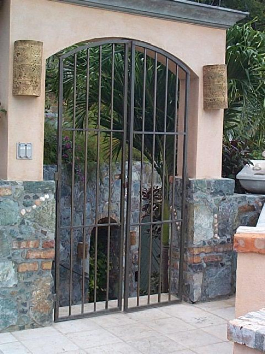 Gated entry to courtyard