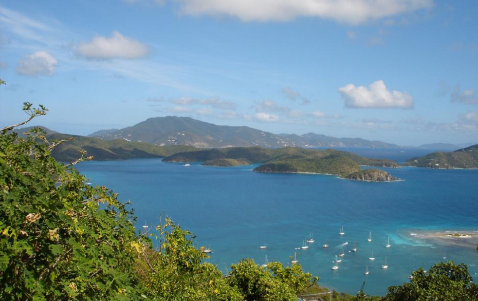 VIEW OVER EAST END TO TORTOLA