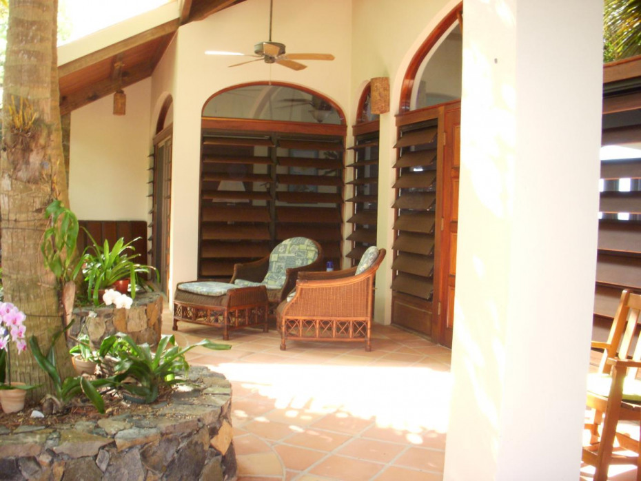 Front entry patio