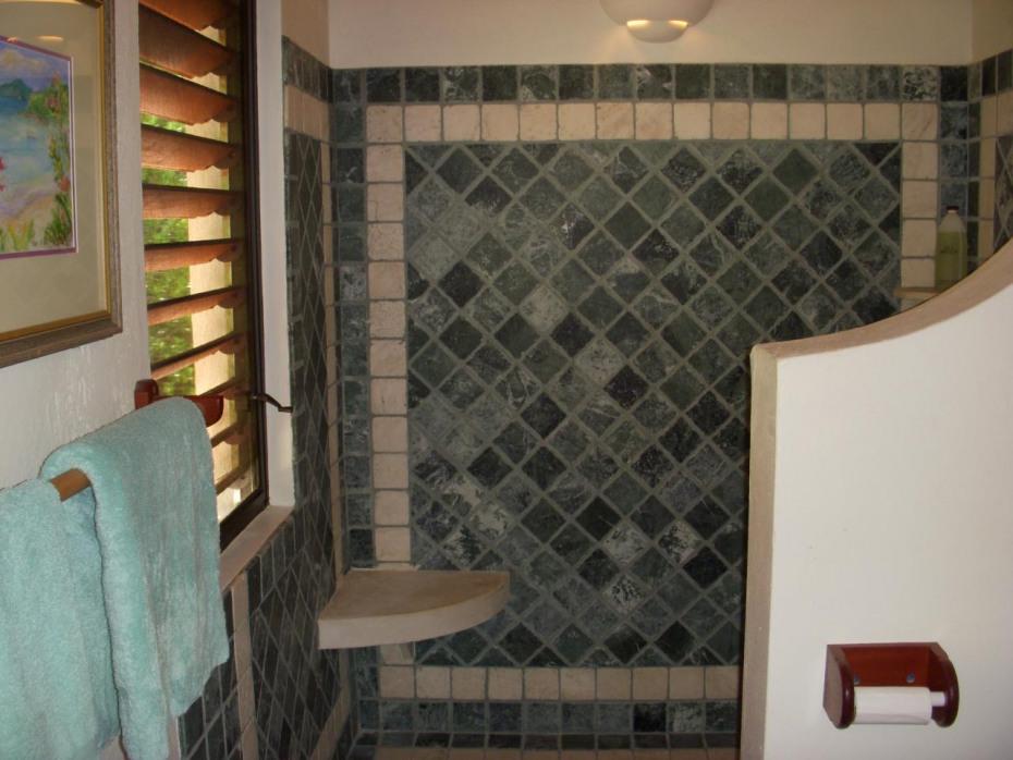 Verde Tile in upper shower