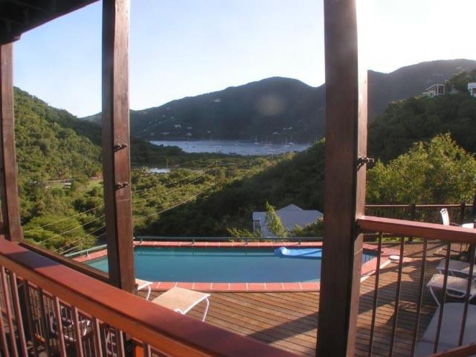 Pool and Coral Bay views