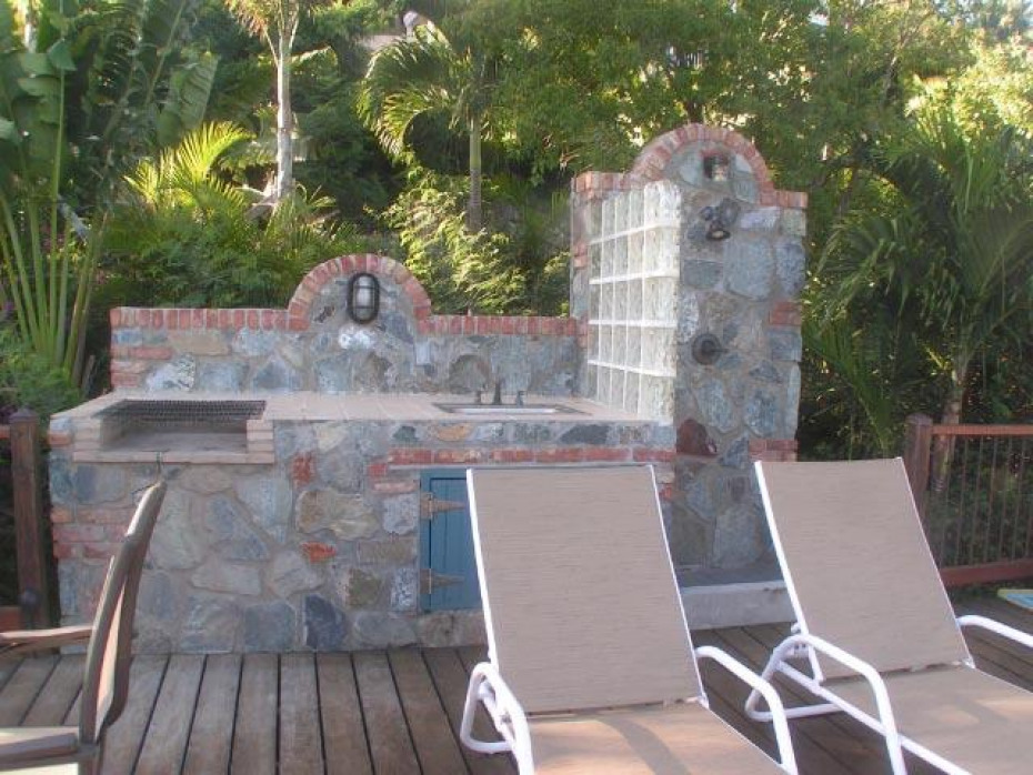 BBQ and stone shower