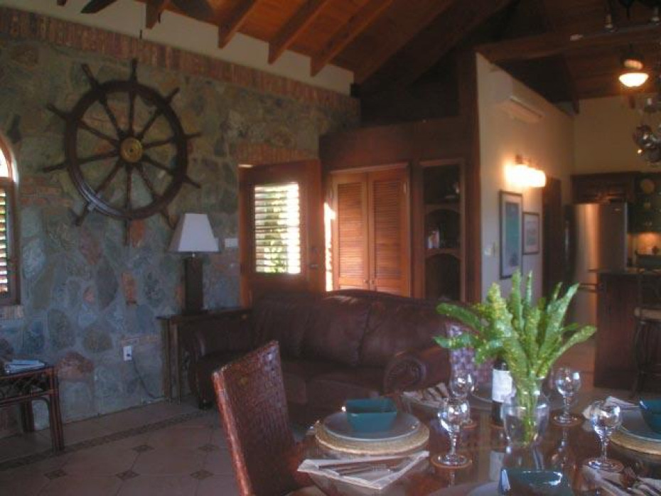 Dining room and living area