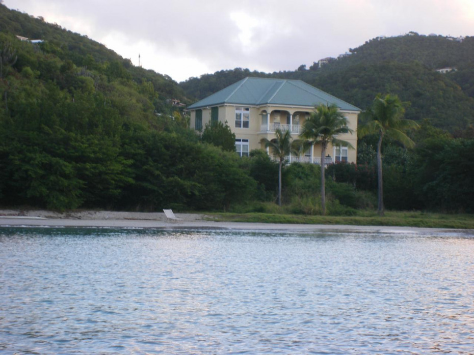 View from water of Harbour House