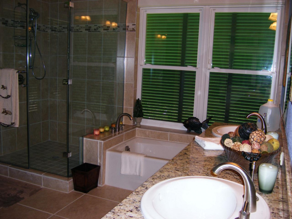 Baths have Euro Showers plus bath tubs