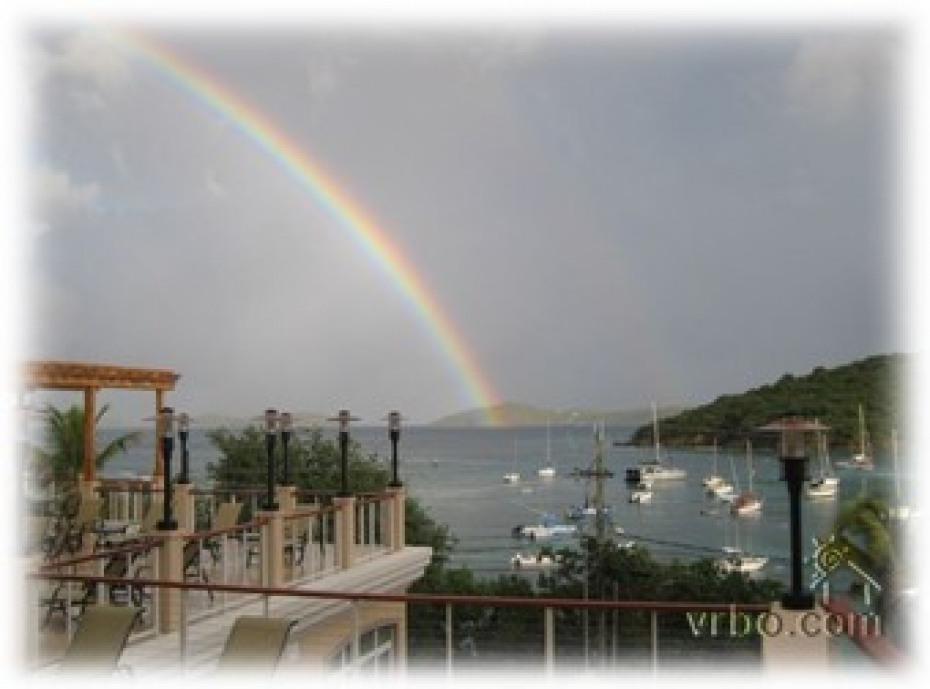 Rainbow from the pool veranda