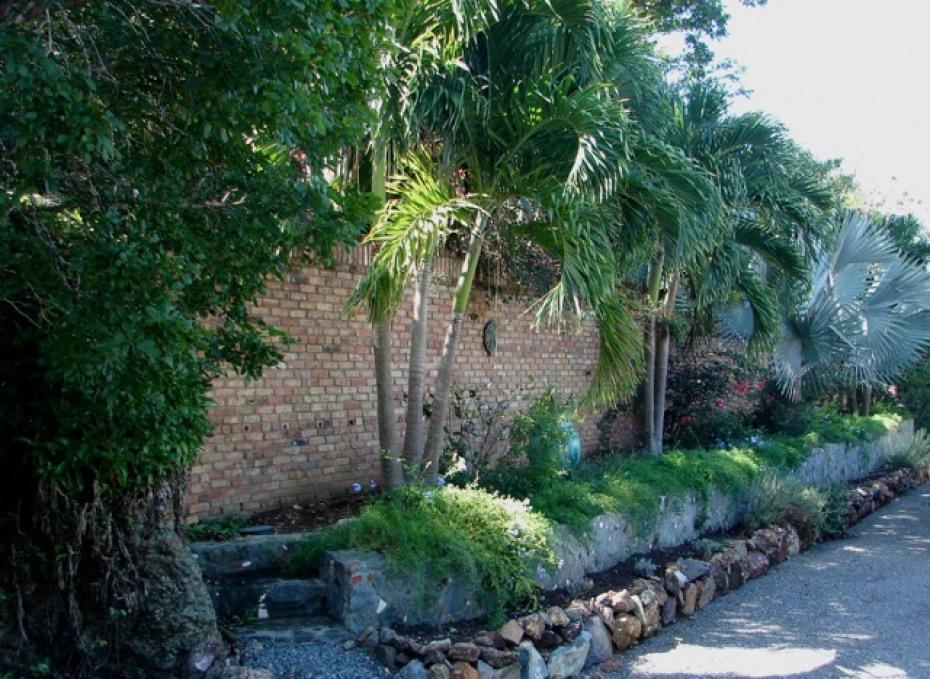 Gardens w/antique Brick Wall