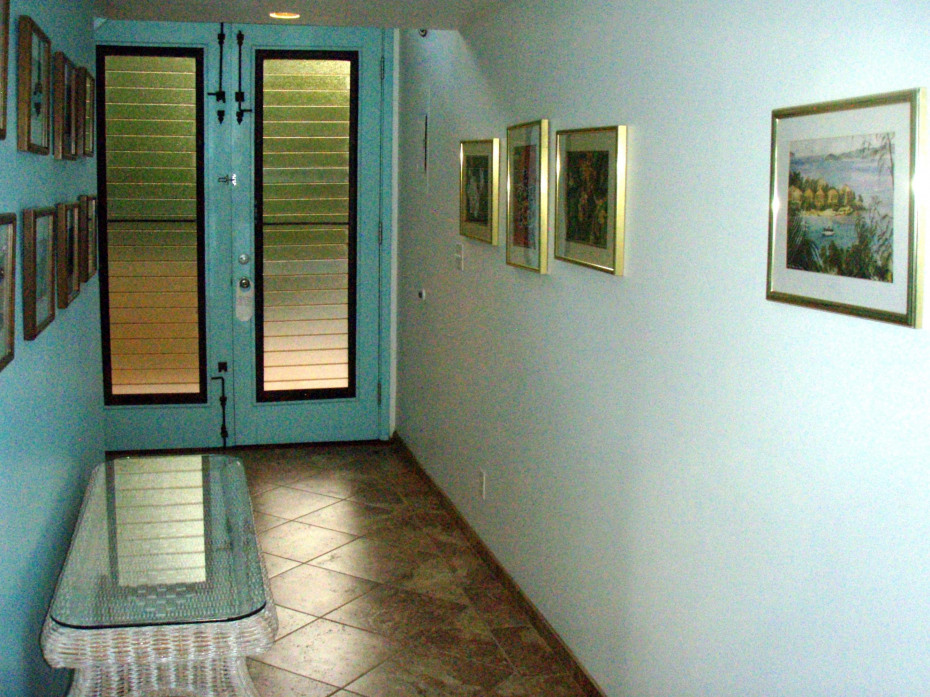 Entrance Hall with new tile