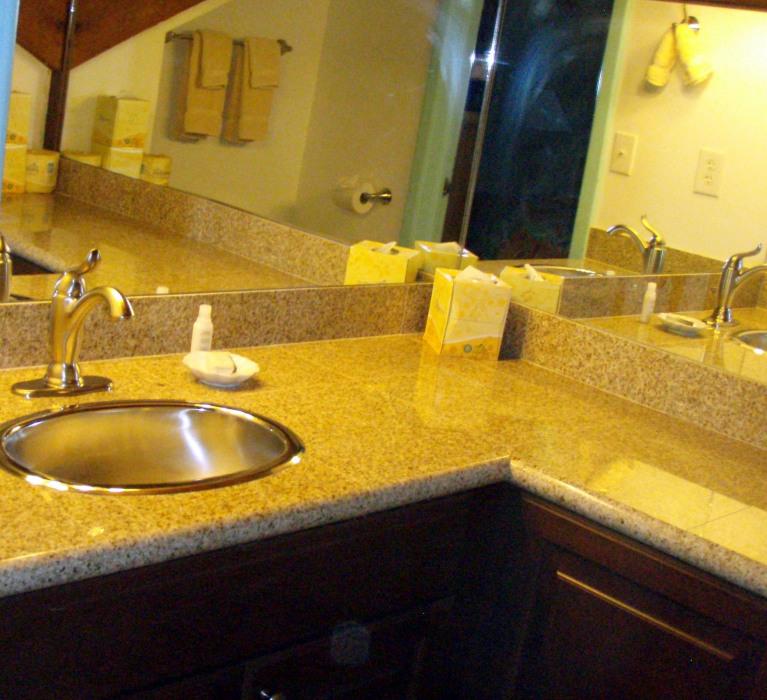 New bathroom counter tops