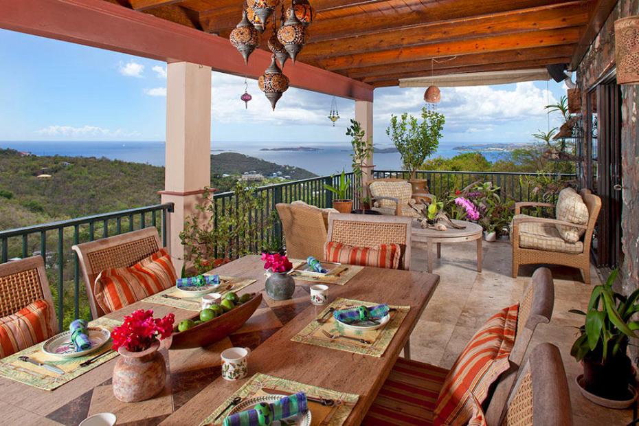 Main Level Balcony Dining Area