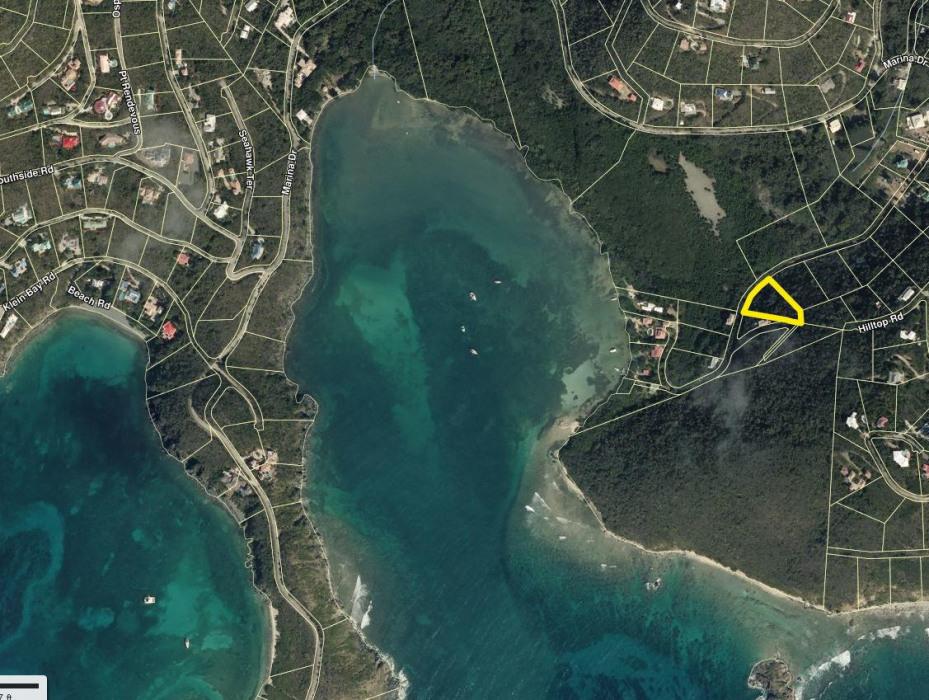 Ariel Map Location of 167 Fish Bay