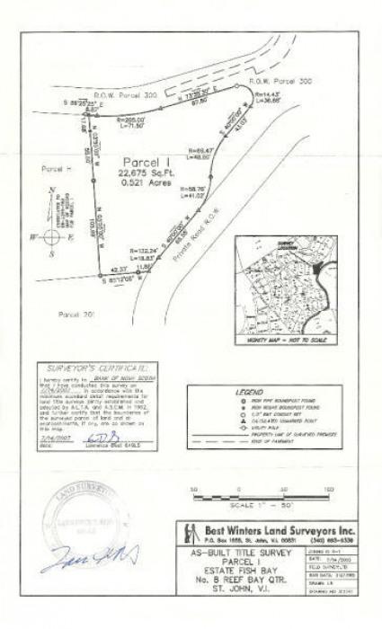 Survey Map for Parcel I Fish Bay