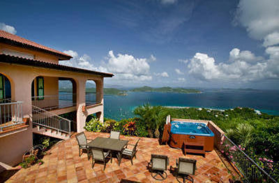 Expansive view from pool and hot tub spa