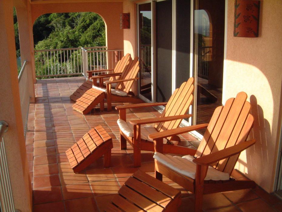 Morning on the covered verandah