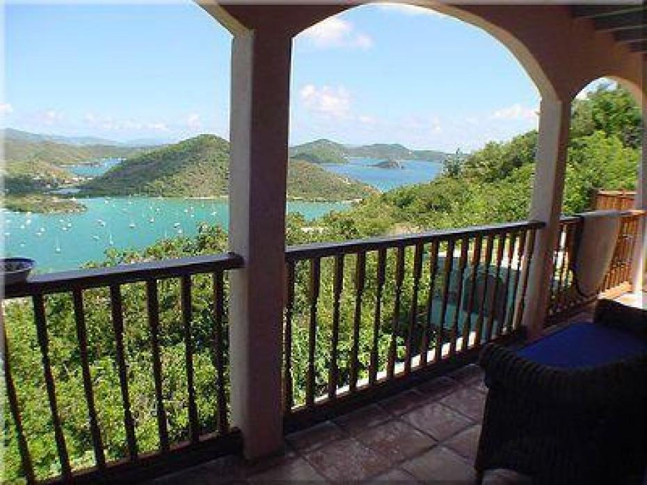 view from covered verandah