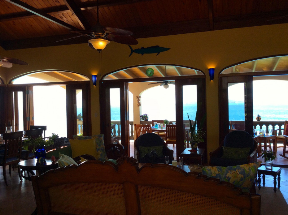 Caribbean Sea views from great room