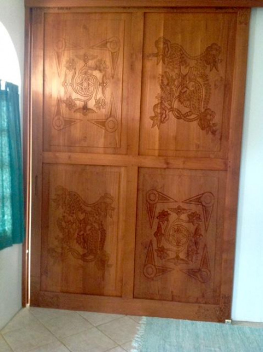 Lower Level - Beautiful Carved Door