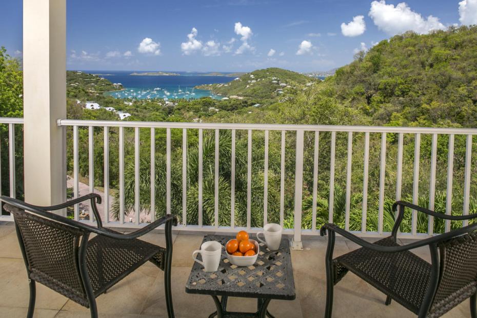 Spacious balcony views