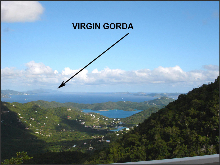 VIEW TO VIRGIN GORDA