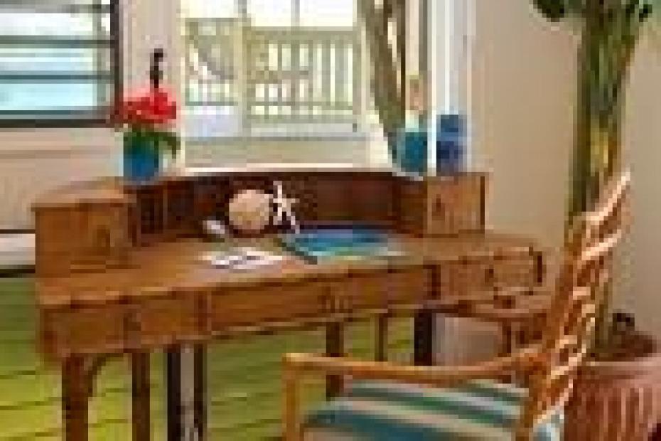 Desk in Living Area