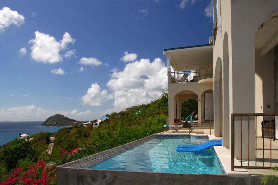 Sunny Pool at Villa Anansi