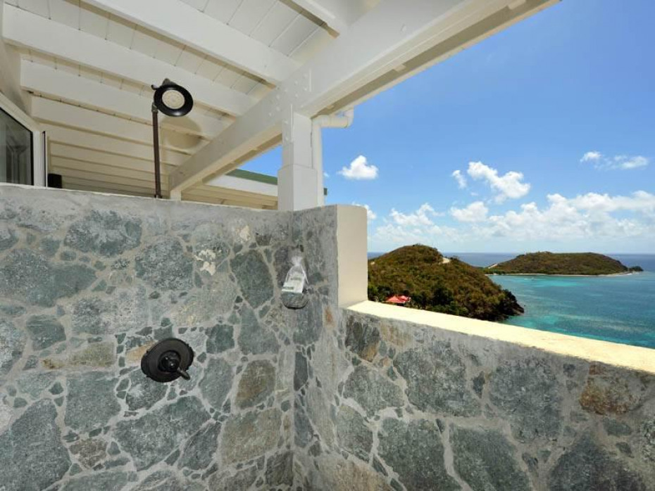 Stone Shower with a view!