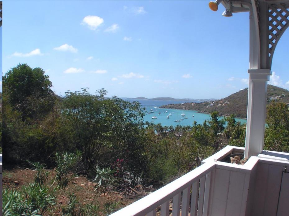 views of Great Cruz Bay and St Thomas