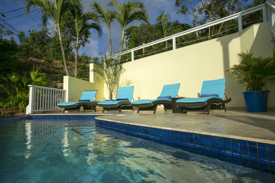 spacious poolside decks