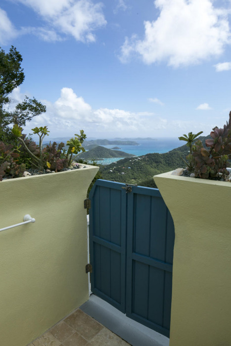 outdoor shower with views