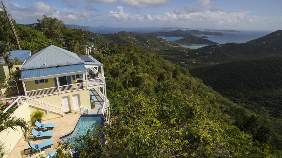 down island and hillside views