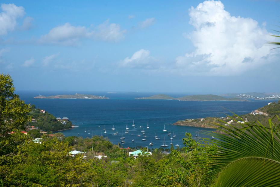 Overlooking Great Cruz Bay anchorage