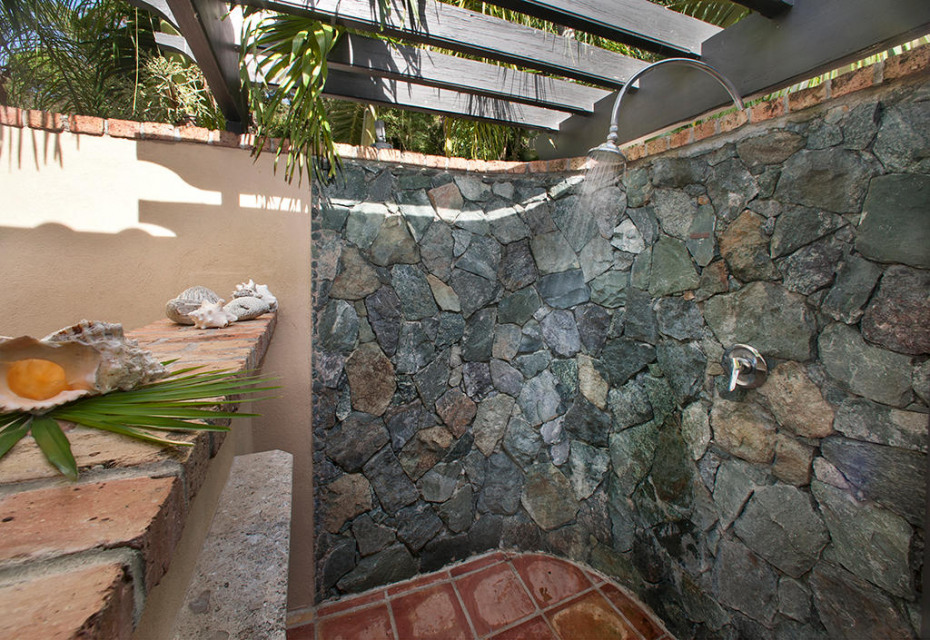 Charming outdoor shower