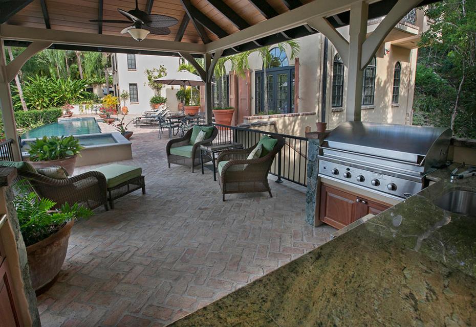 Outdoor kitchen and gazebo