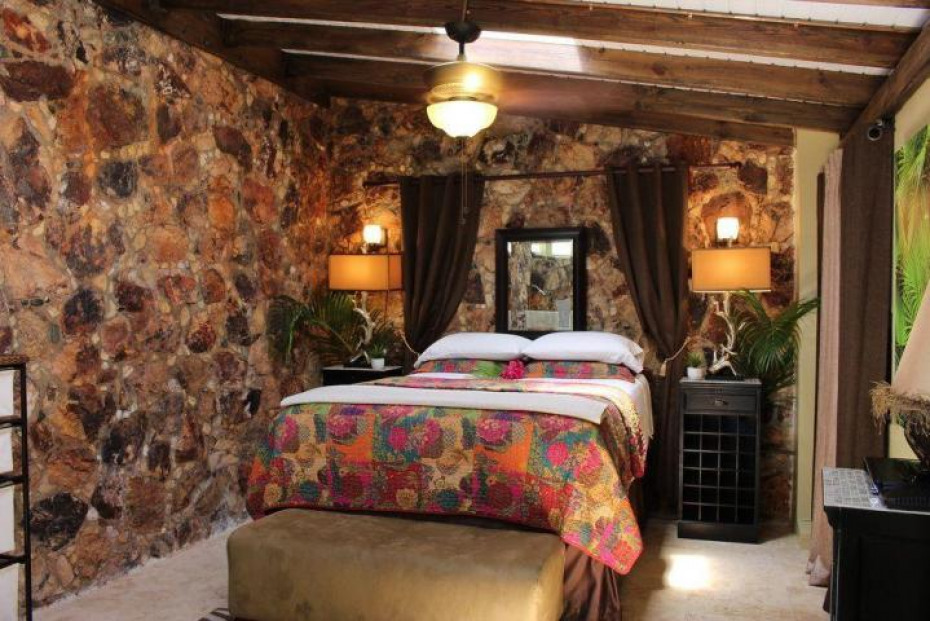 Upper guest stone bedroom