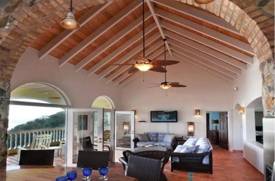 Great Room opening to large screen porch