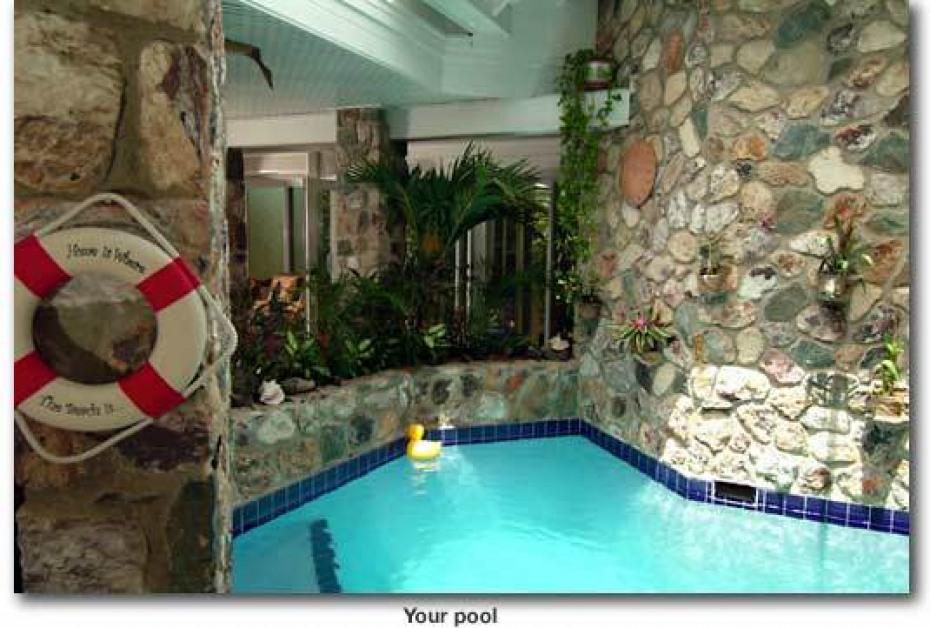 Tropical indoor pool
