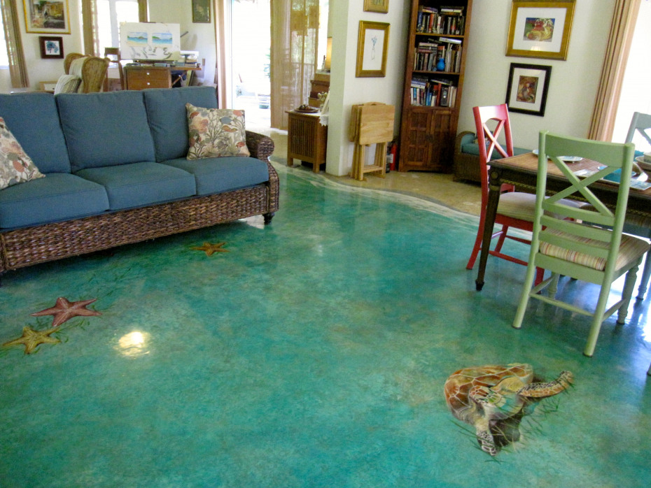 Handpainted floor