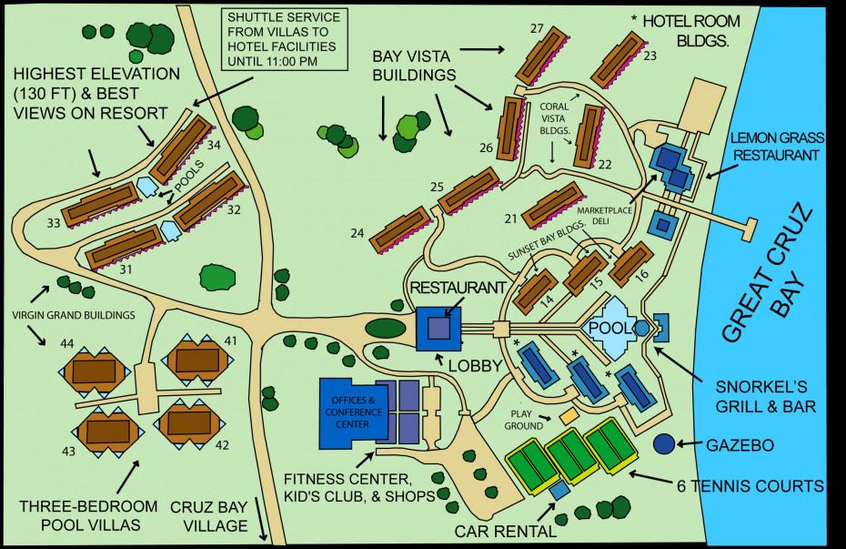 Westin site map