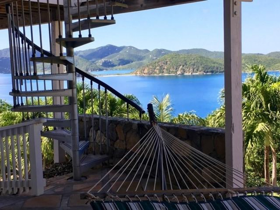 Spiral staircase with a view