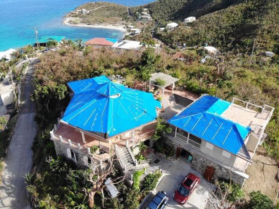 Villa Agel Drone Shot Post Irma 2