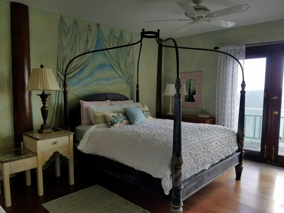 Upper Guest bedroom with private deck
