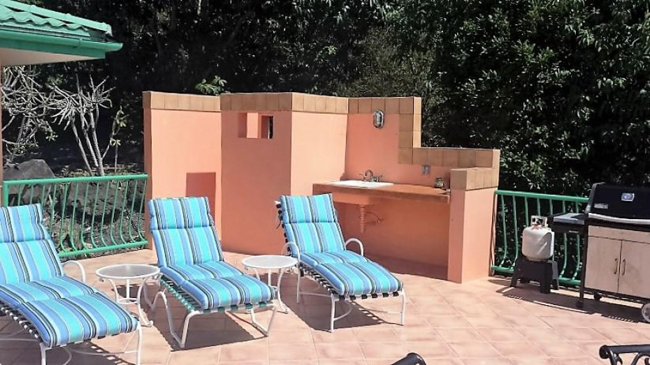 Wetbar and outside shower