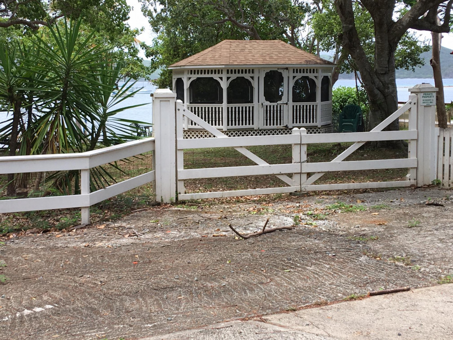 HOA beach parcel with gazebo