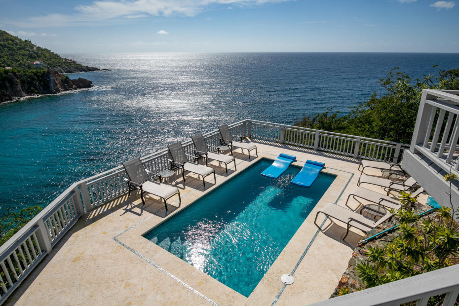 Pool and Caribbean Sea View