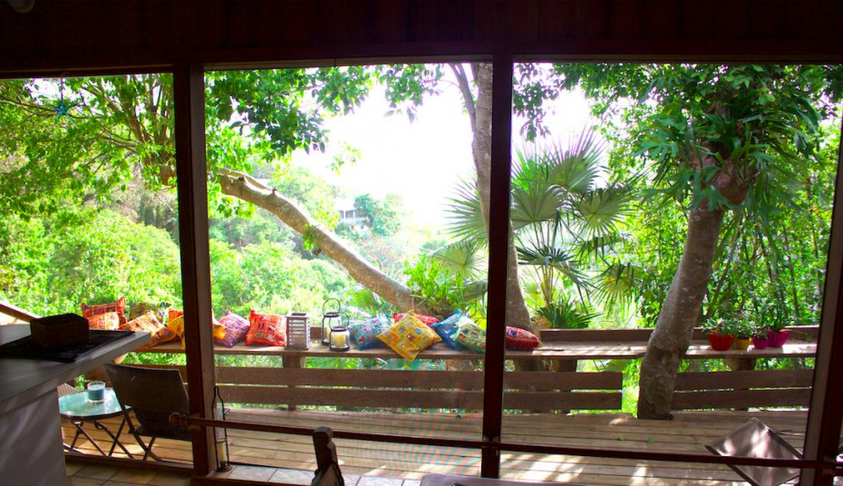 Deck from inside