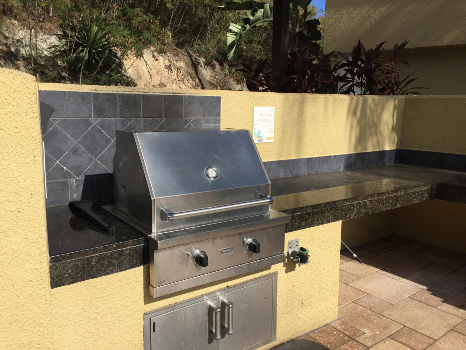 gas grills by pool