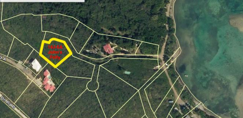 Overhead shot of the property