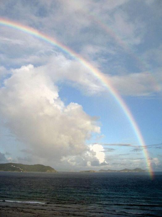 Heaven's look at the rainbow