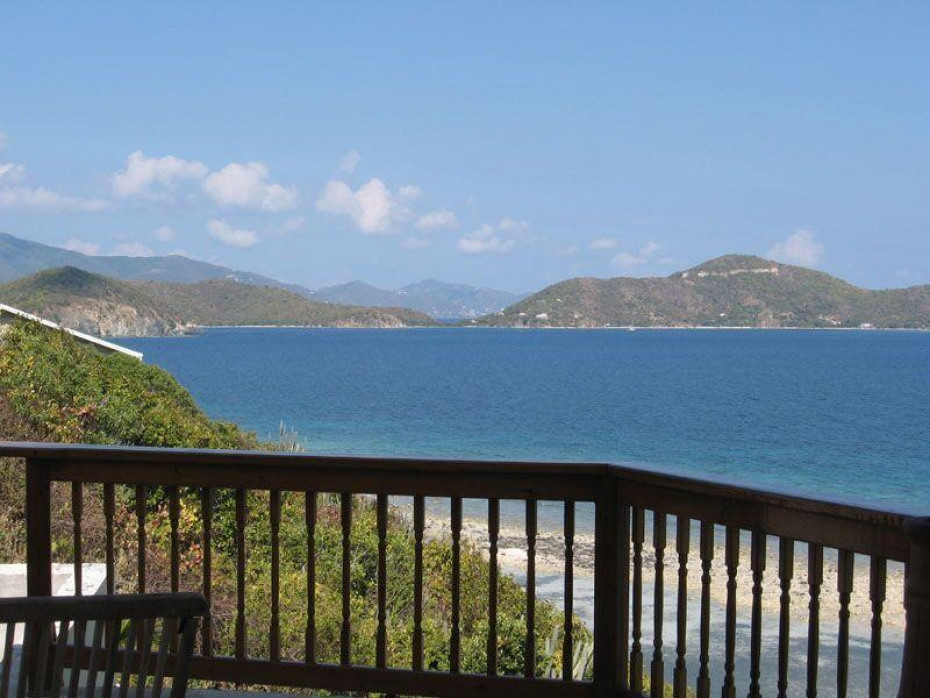 Tortola in the background
